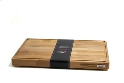 Tagliere con raccoglisugo e piedini in legno di faggio 50 cm