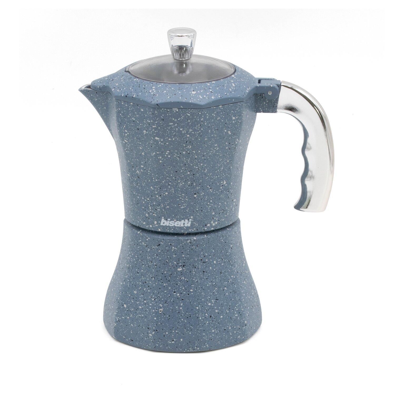 Caffettiera 'Pierre Gourmet' con manico e pomolo finitura argento