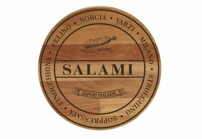 Tagliere rustico in faggio 'Salami'