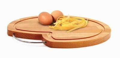 Tagliere rotondo in legno di faggio