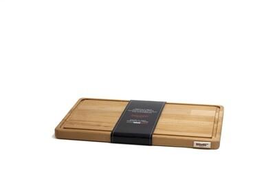 Tagliere con raccoglisugo in legno di faggio 40 cm