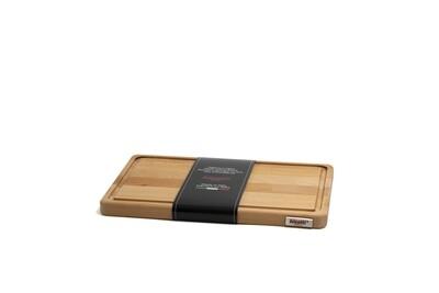 Tagliere con raccoglisugo in legno di faggio 35 cm