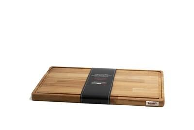 Tagliere con raccoglisugo in legno di faggio 45 cm