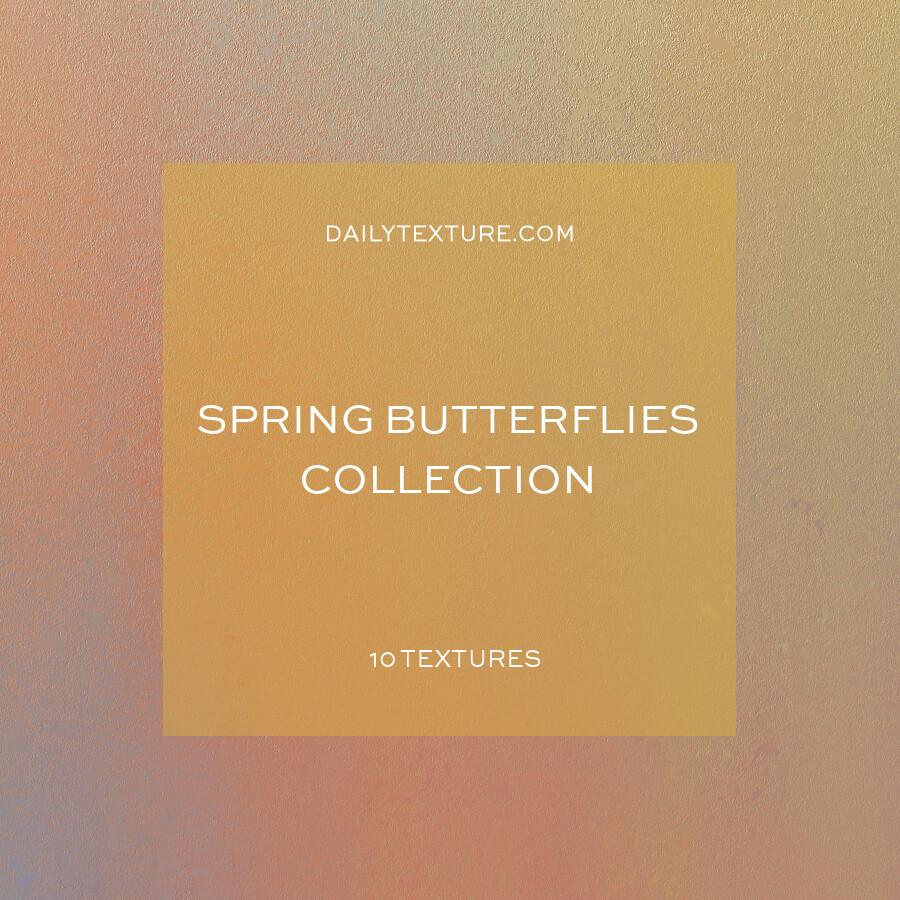 Spring Butterflies Texture Collection