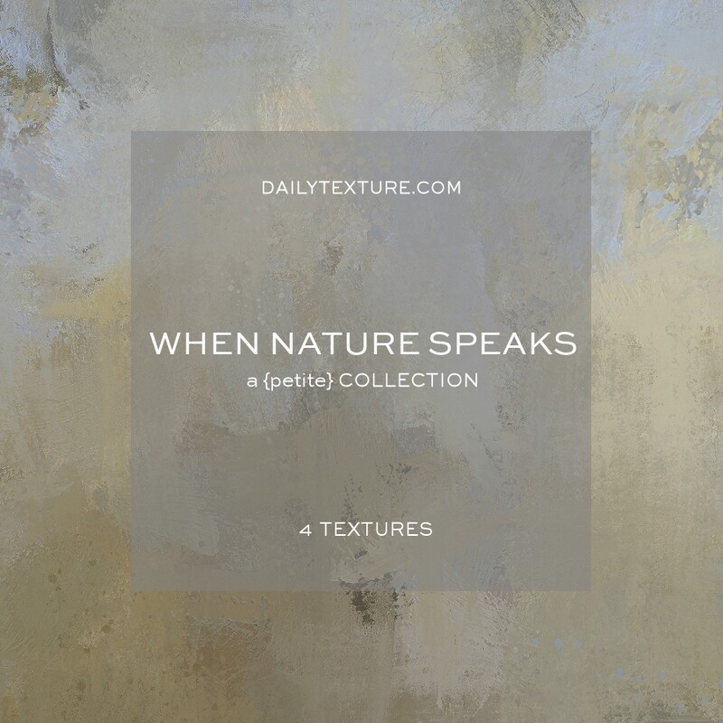 When Nature Speaks A Petite Texture Collection