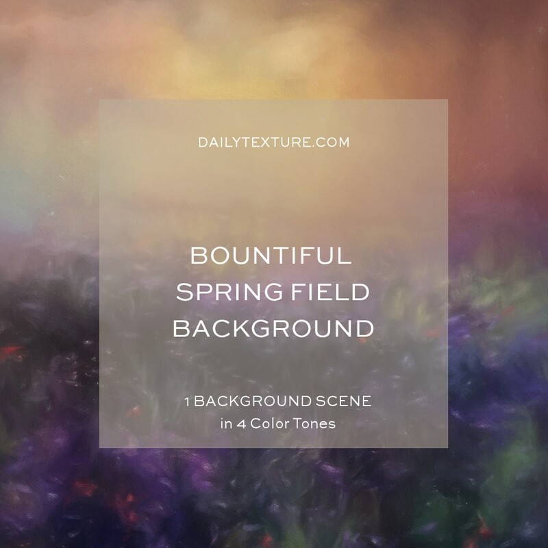 Bountiful Spring Field Background Collection