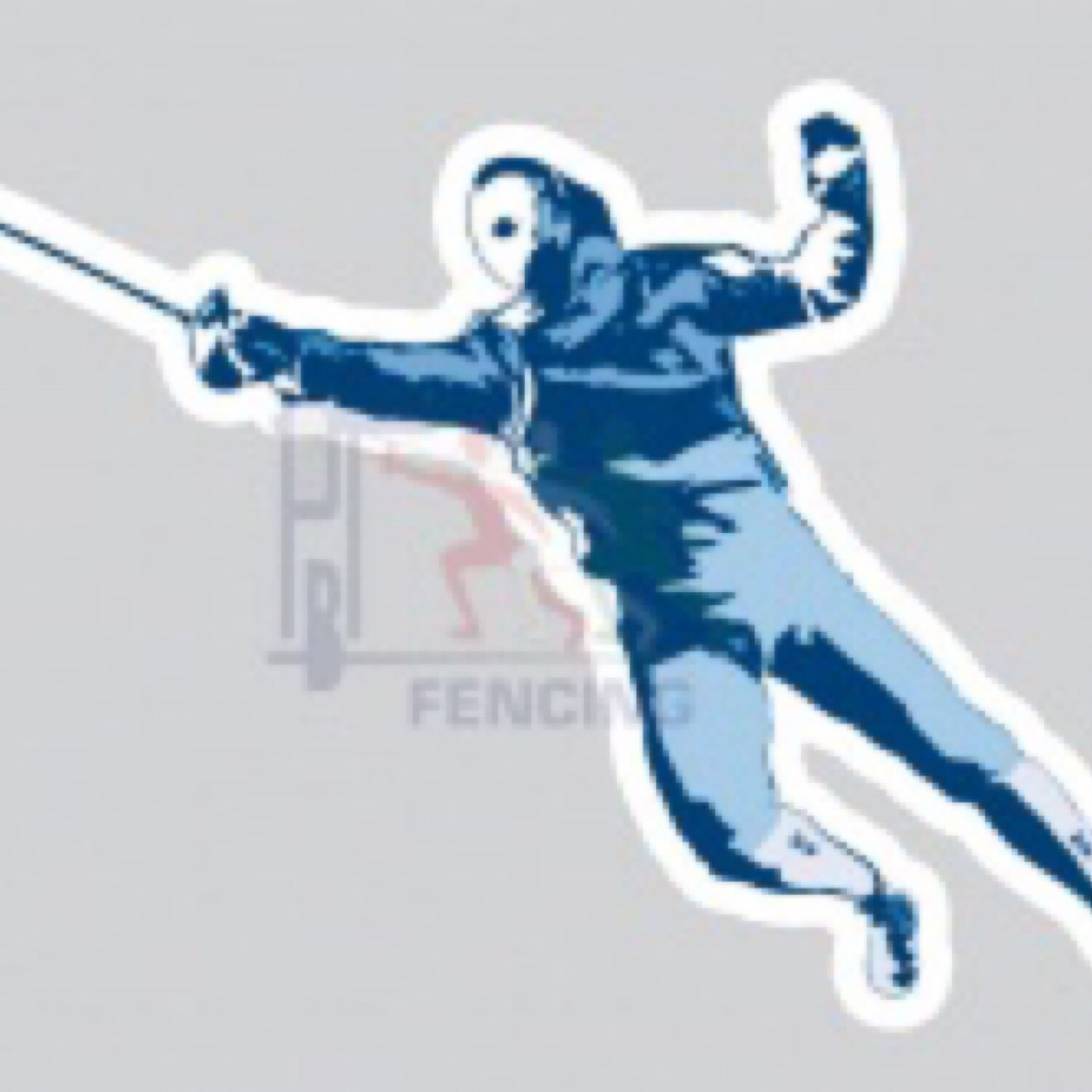 Fencing car sticker SABER