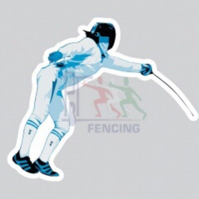 Fencing car sticker EPÉE