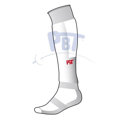 Fencing socks shine padded premium with red PBT logo