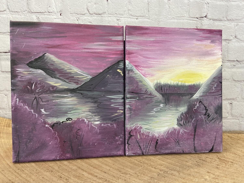 Valentine's Day Series! Romantic Quabbin Landscape Canvas Set