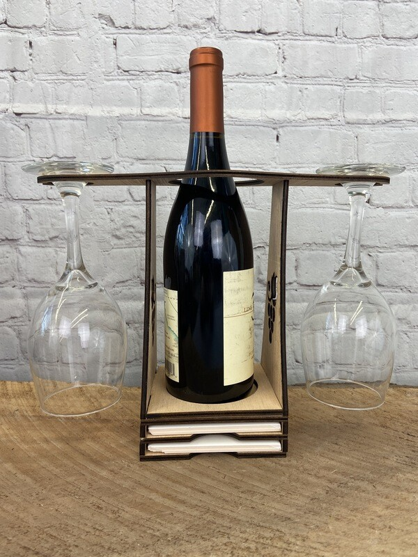 VALENTINE'S DAY SERIES! Wine Caddy for Two