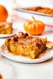 Chai Spiced Pumpkin Bread Pudding