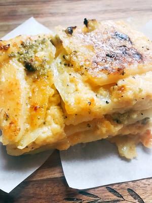 Cheesy Broccoli Scalloped Potato