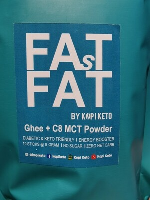 Kopi Keto Fast Fat (Ghee + C8 MCT Powder), 8g x 10 sticks