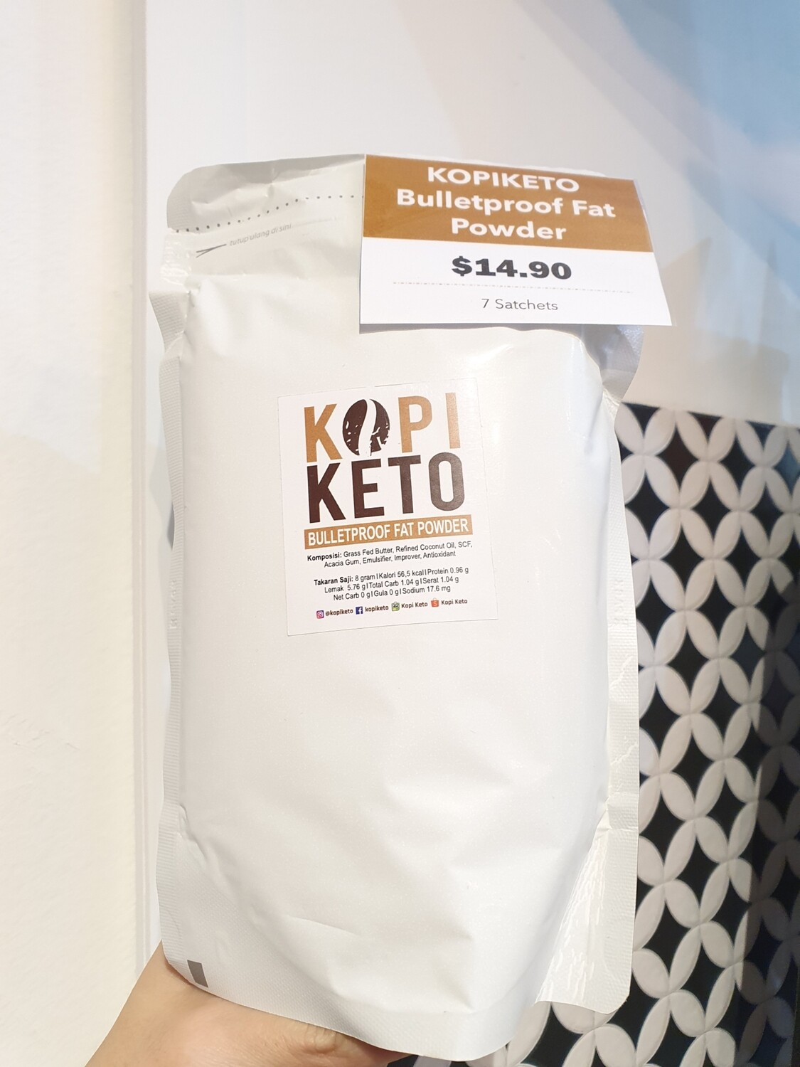 Kopi Keto Bulletproof Fat Powder (7 Sachets)