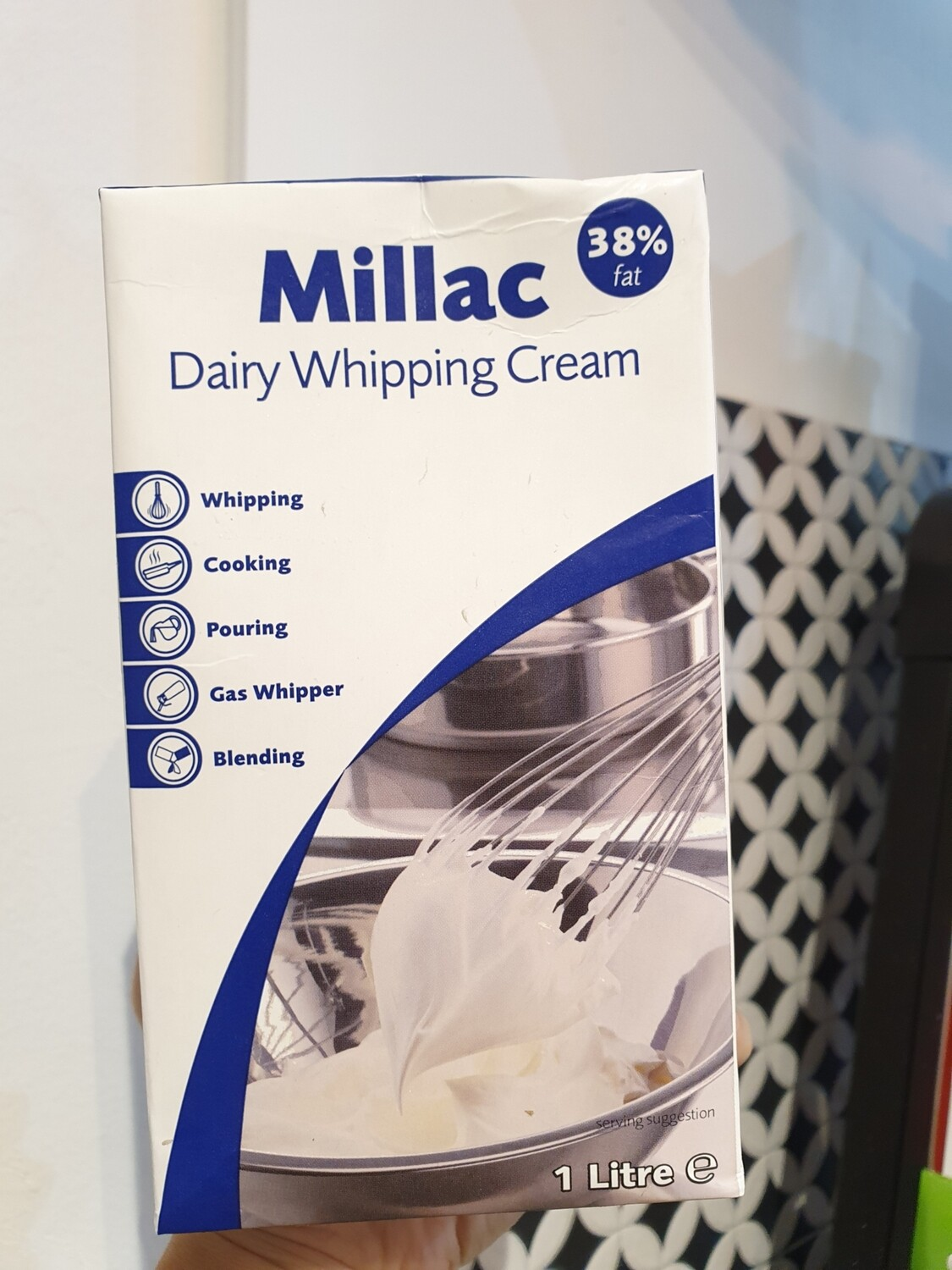 Millac, UHT Dairy Whipping Cream 38%, 1L