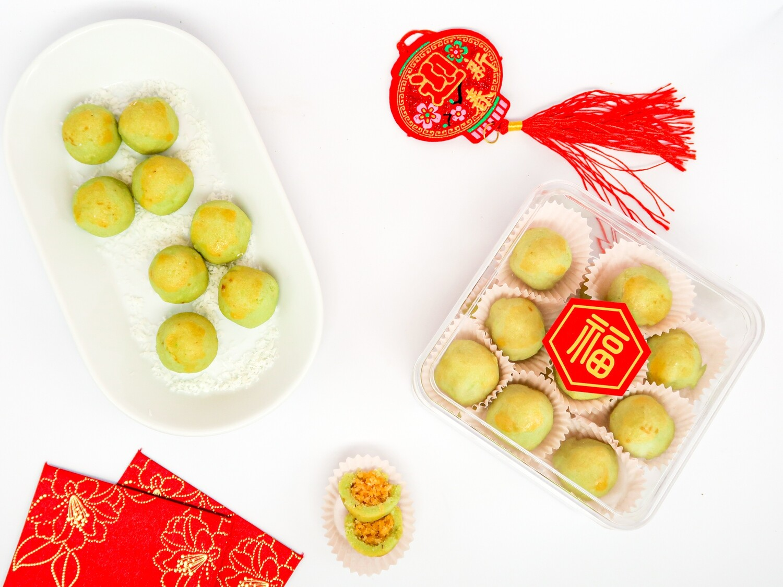 Keto CNY Ondeh Ondeh Tarts - Box of 18