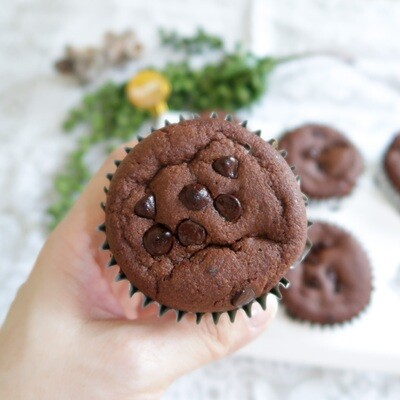 Keto Double Chocolate Chips Muffins (Box of 6)