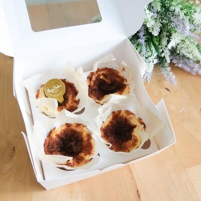 Keto Mini Burnt Basque Cheesecake (Box of 4)