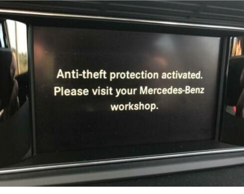 Mercedes Benz Radio Coding (Antitheft Warning)