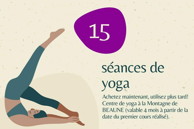 Carnet 15 cours de yoga chez Yogamaga Beaune