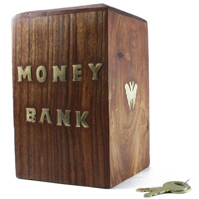 Handmade Wood Coin Bank || Piggy Bank || Gift for Boys || Gift for Girls || Savings Bank || Birthday Gift || Wooden Money Box