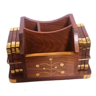 Hand Crafted Embellished Wooden Coasters    Coffee Mugs    Beer Cans    Bar Tumblers    Water Glasses Cum Mobile Pen    Visiting Card Holder