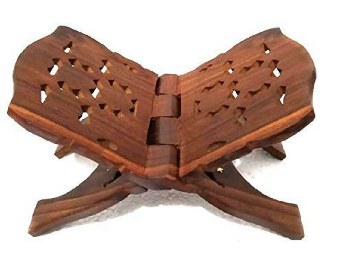 Antique wood Gallery Holy Book Stand