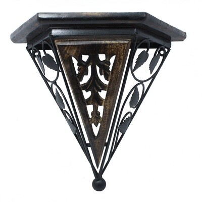 Antique Look Pyramid Shaped Wall Shelves