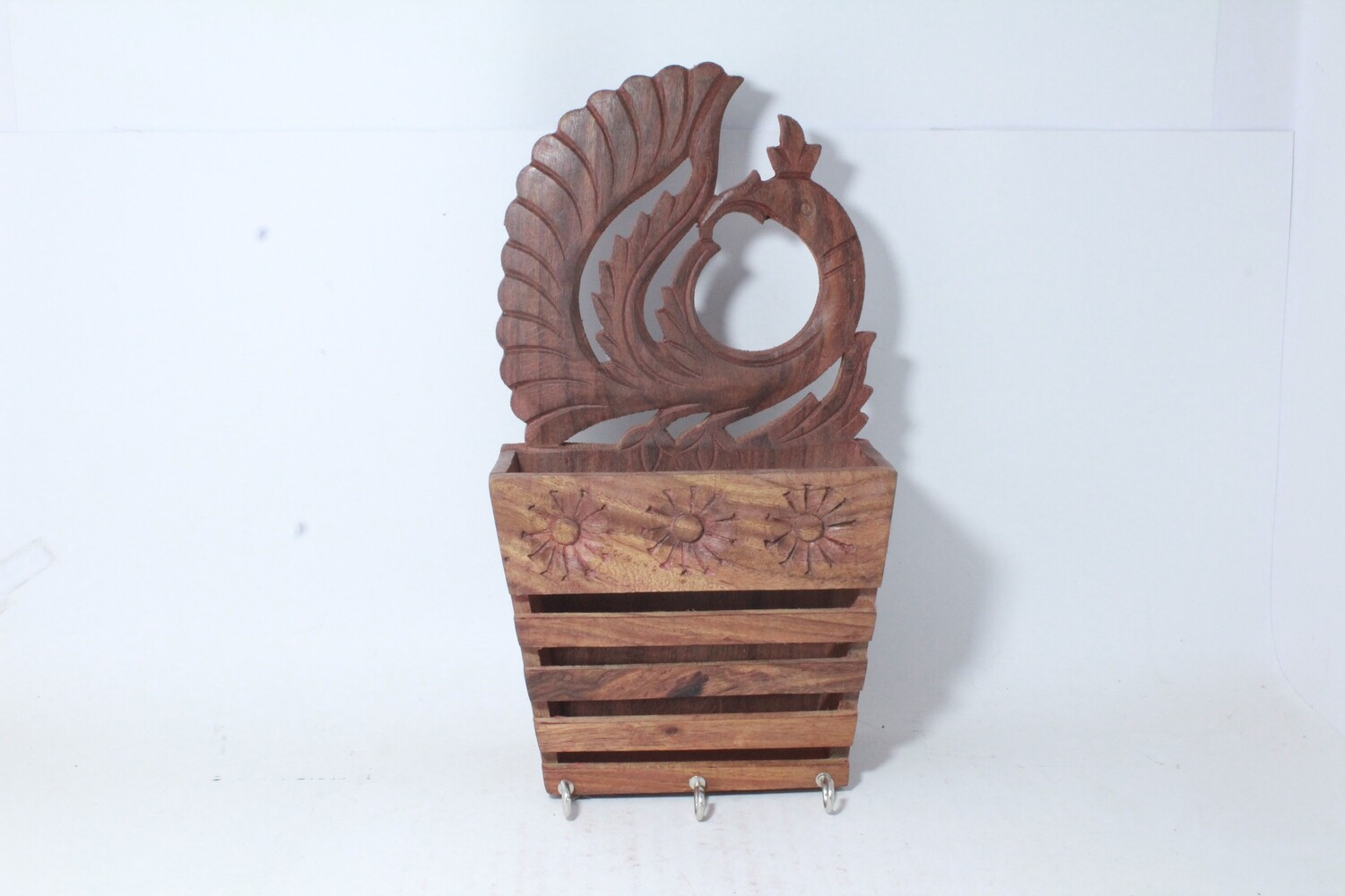 Peacock Wooden Wall Hanging   Mounting Letter   Paper Organizer with Key Hooks Holder   Mobile Stand   Sanitizer   Mask
