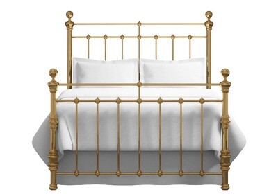 Amazing Antique look Munster brass finish bedstead