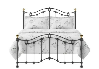 Stunning look Iron Metal Claire Low Footend Bed with Brass Top