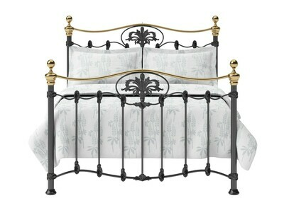 Wow look Iron Metal Wexford Bedstead with brass top