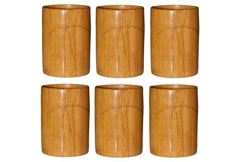 Yellow Stone Multi purpose Glass Set of 6 Jaisalmer Exclusive