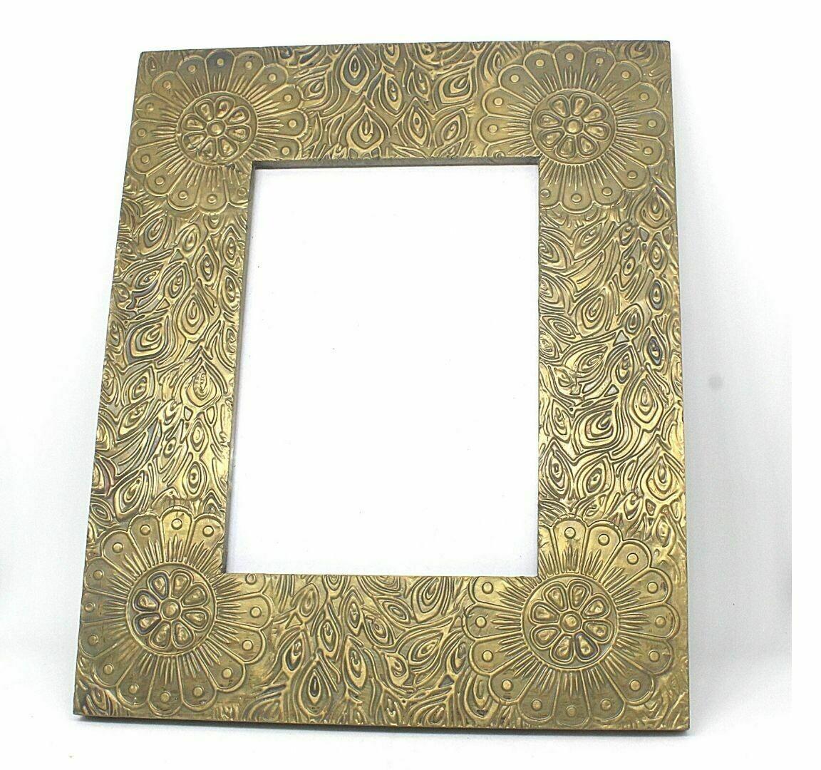 Photo Frame Golden Peacock Sheet Design