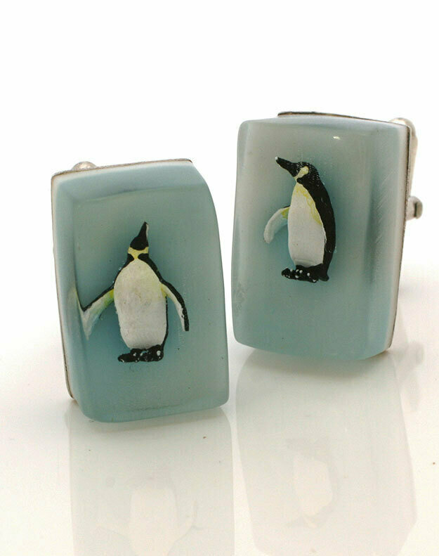 Penguin cube cufflinks