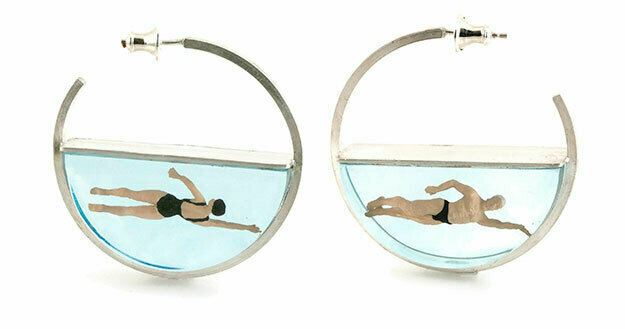 Swimmer resin and silver