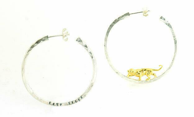 Easy tiger hoop earrings