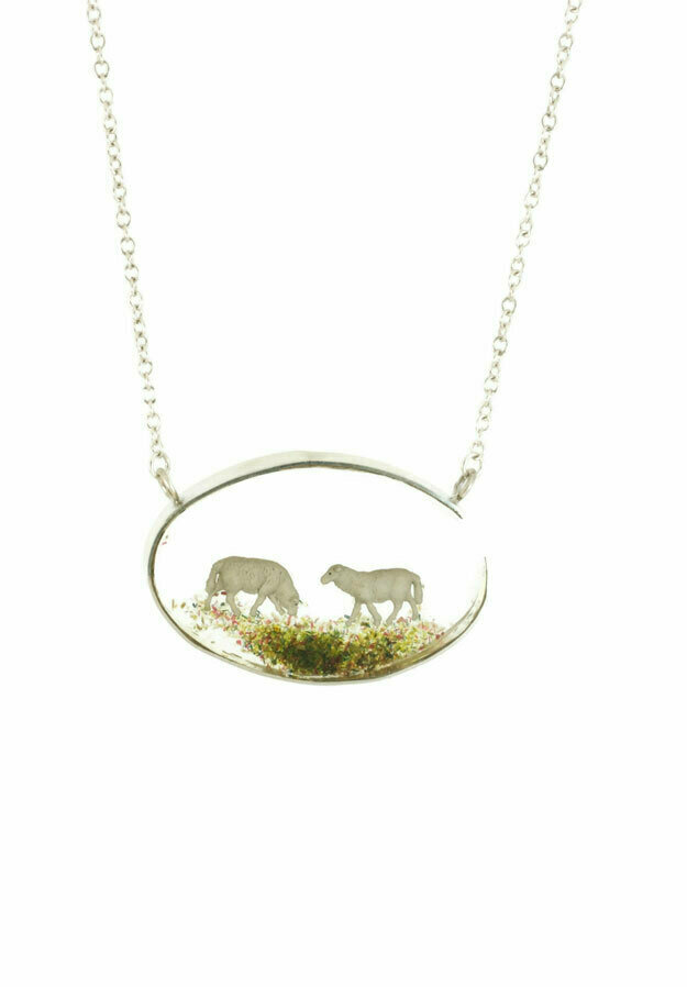 Counting sheep necklace