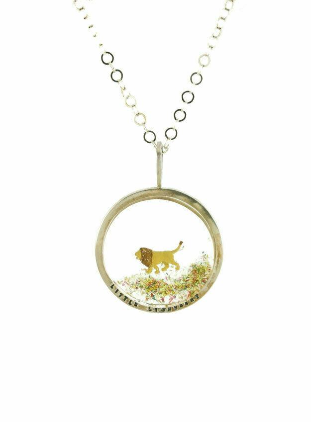 Little Lionheart disk necklace - large