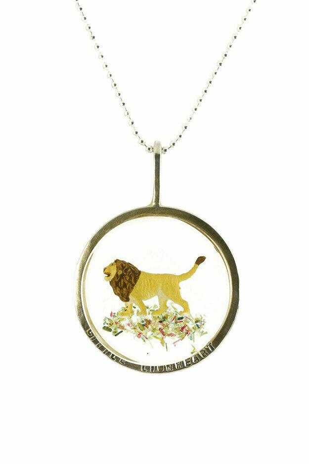 Little lionhearted disk necklace - small