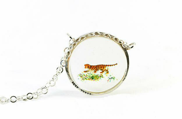 Necklace, Easy Tiger (large disk)