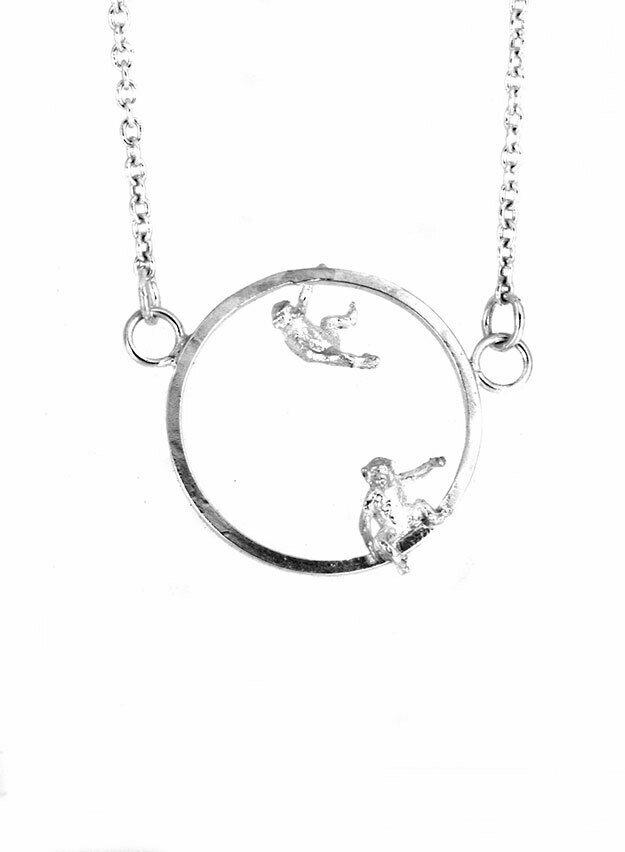 Double monkey necklace