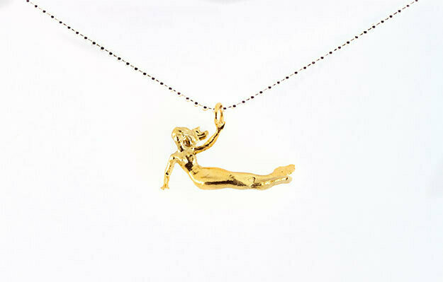 Mermaid necklace (gold plated)