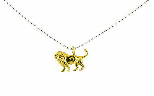 Lion necklace (yellow gold plate)