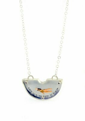 Swimmer half circle necklace