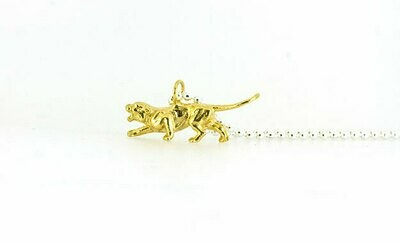 Tiger necklace (yellow gold plate)