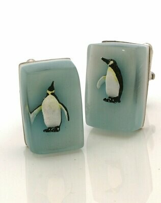 Penguin cube cufflinks