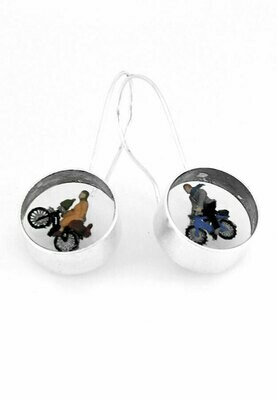I want to ride my bicycle earrings
