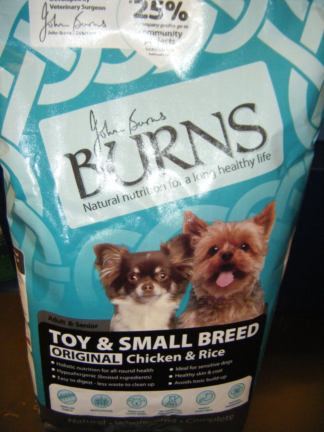 BURNS TOY/SMALL BREED  Adult - 6KG